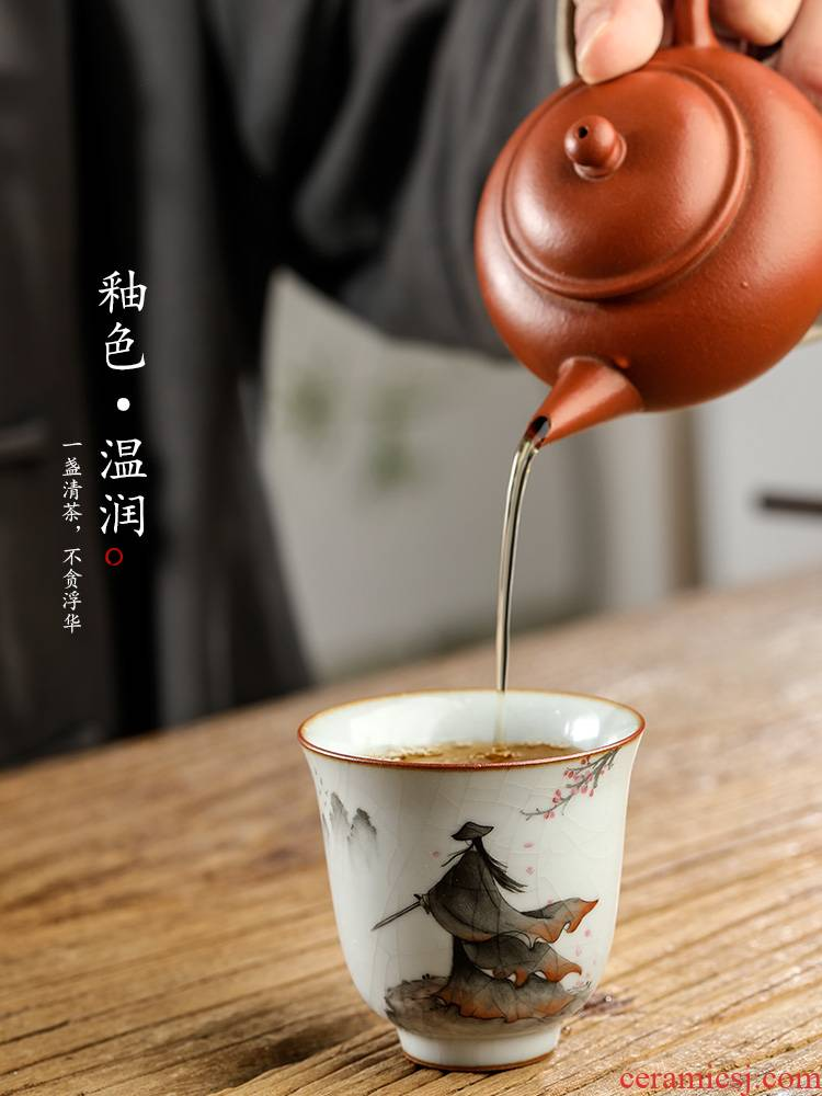 Jingdezhen your up hand - made master cup single cup tea sample tea cup only pure manual ceramic kung fu tea cups