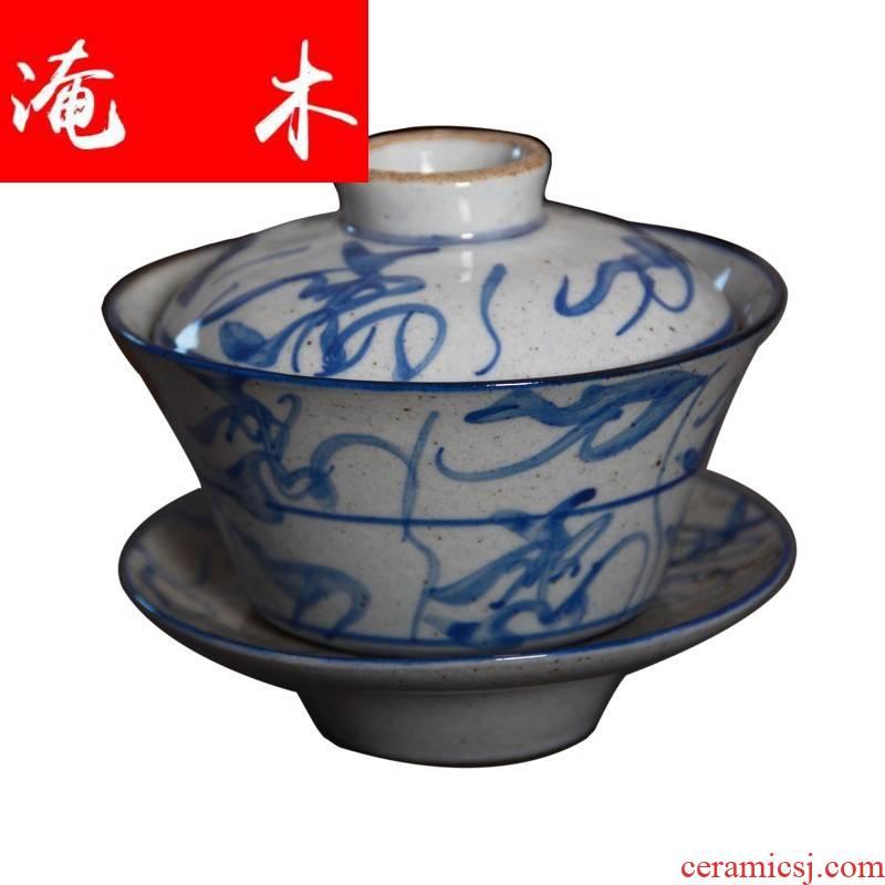 Submerged wood jingdezhen porcelain jade hin ceramic kung fu tea set, 80-90 - s ancient up hand - made porcelain and old camellia knife