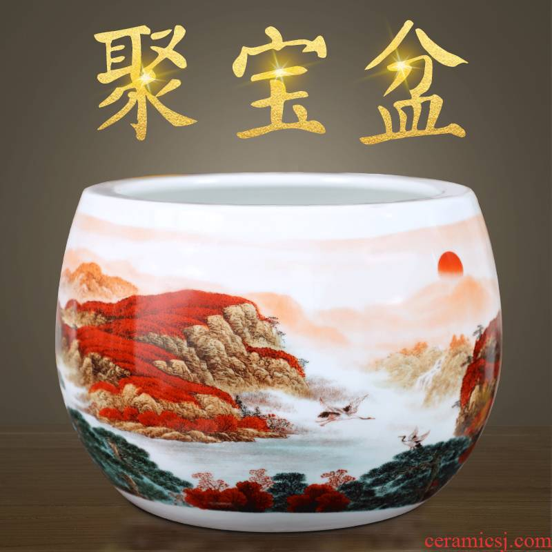 Luck cornucopia receive a case of jingdezhen ceramic hand - made vases, Chinese style living room porch place as cans