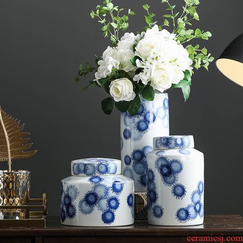 Rain tong Bohemian ceramic pot put vase jingdezhen ceramic household ceramic vase furnishing articles furnishing articles