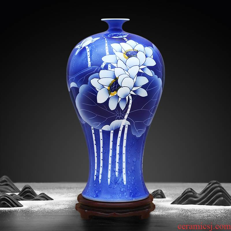 Blue and white spilt choi mei bottle to industry