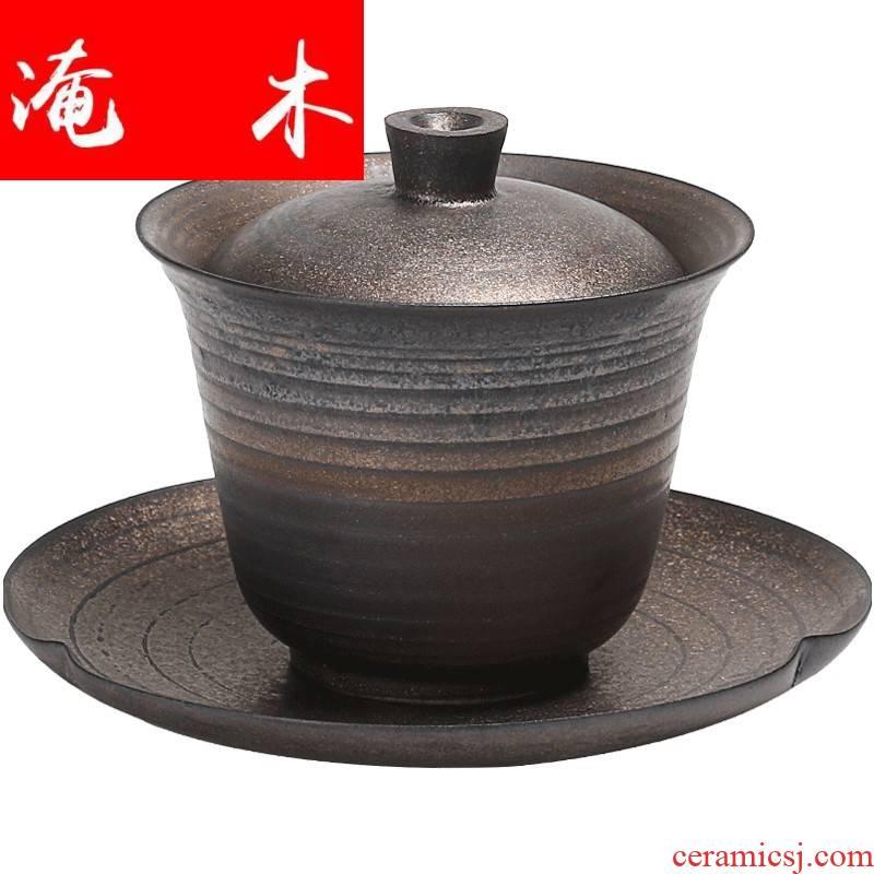 Submerged wood manual only thin foetus large three tureen ceramic tea cups coarse pottery bowl of kung fu tea tea bowl hand grasp
