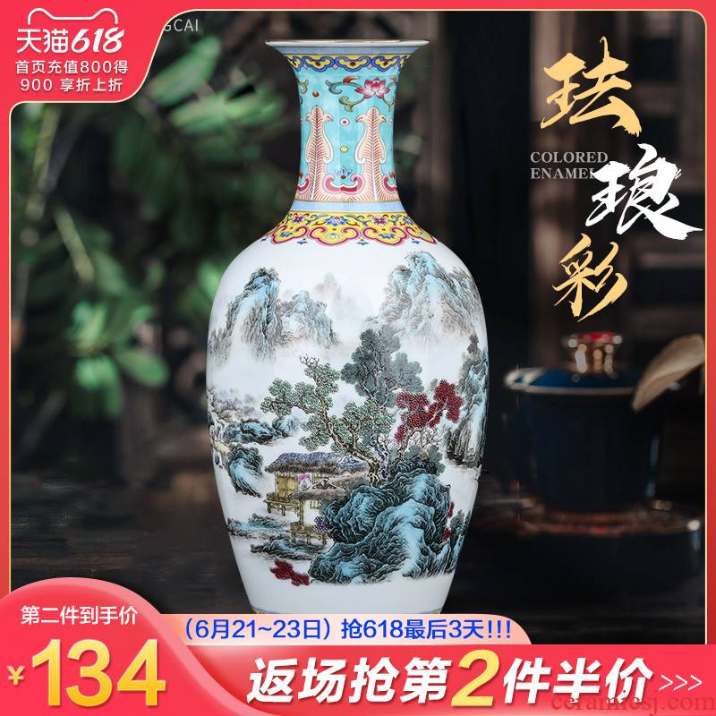 Jingdezhen ceramics, vases, flower arranging furnishing articles sitting room TV ark, rich ancient frame of Chinese style household decoration decoration gifts