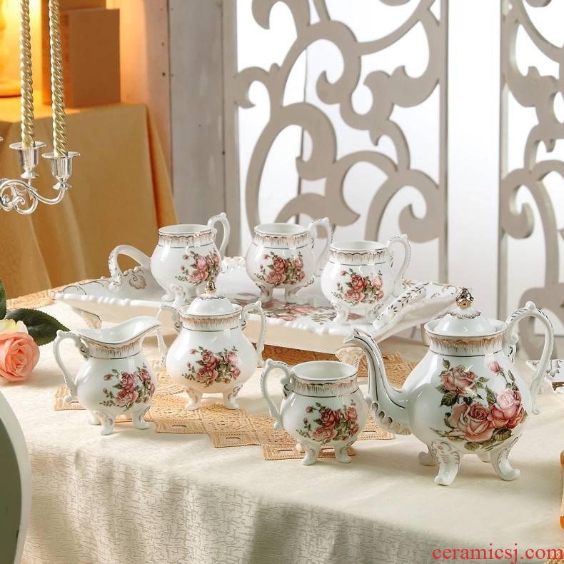 Qiao mu ceramic coffee set box European tea sets English afternoon tea tea teapot teacup coffee cup