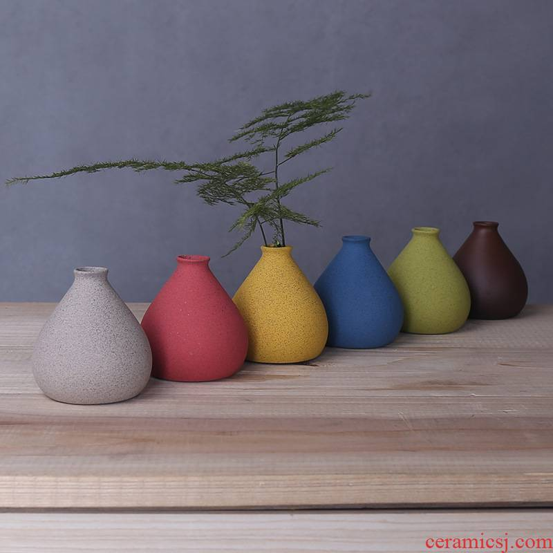 Vases, ceramic creative household small sitting room adornment handicraft furnishing articles colorful vase container