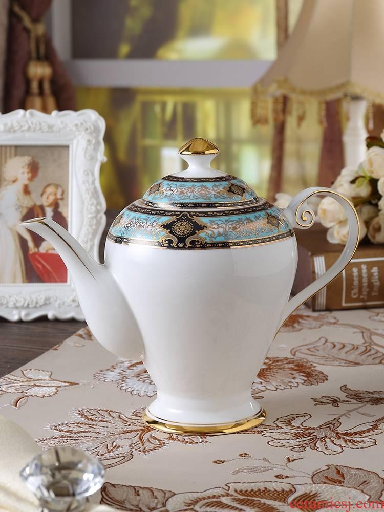 Qiao mu English ipads China hand coffee pot of high - end European ceramic flower pot teapot big capacity