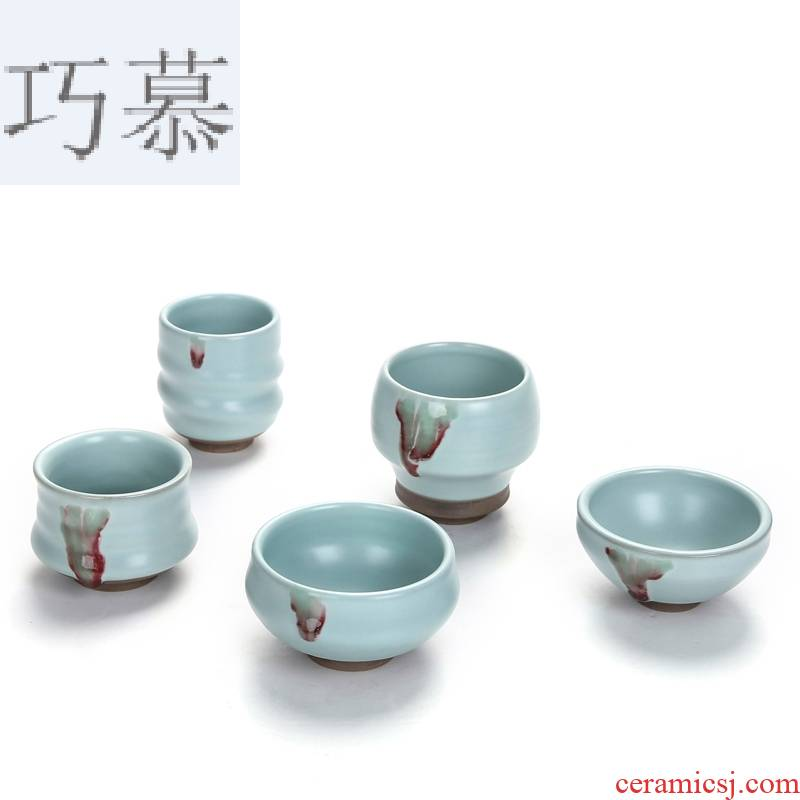 Qiao mu imitation song dynasty style typeface your porcelain tea cups kung fu tea set sample tea cup to open the slice your up product keller cup perfectly playable cup host