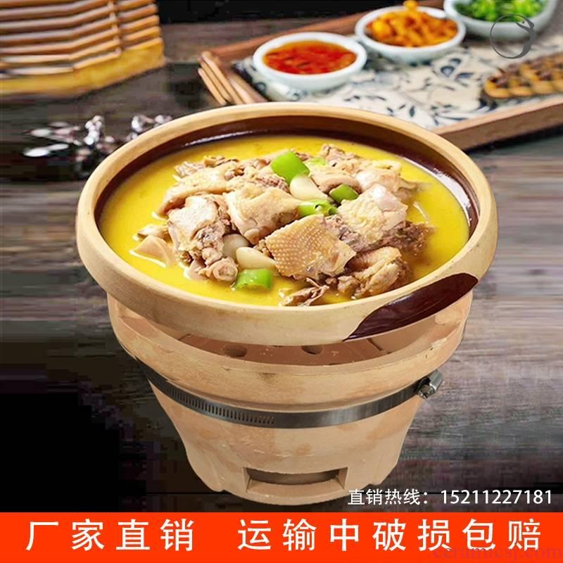 Clay pot Chang Detu fantastic hotpot dish bowl of hunan museum tableware thick Clay bowl ltd. hotel restaurant soil characteristics