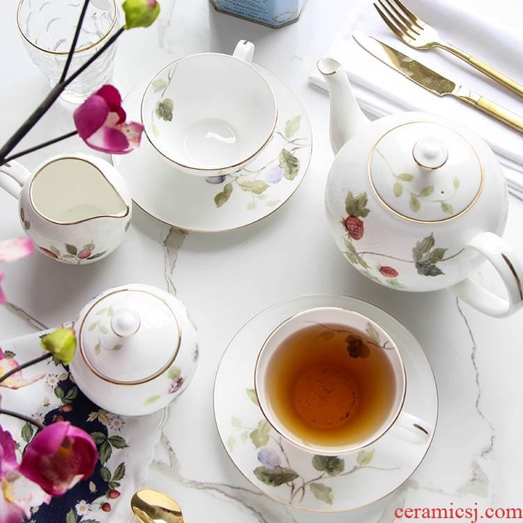 Qiao mu English afternoon tea tea sets ou ipads China rural coffee set 15 head restoring ancient ways of household ceramic tea set