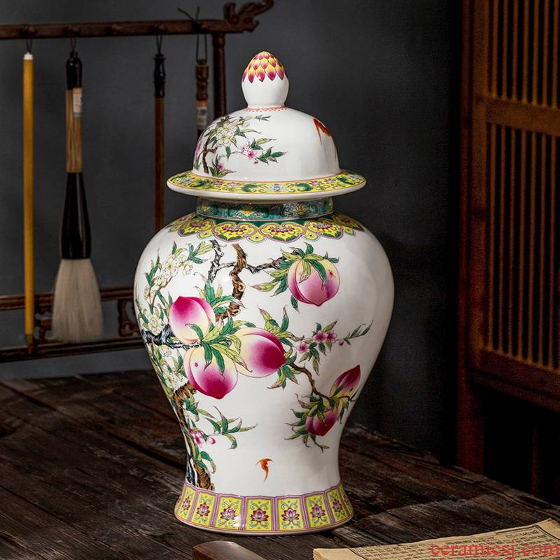 Jingdezhen ceramic can live long and proper general antique vases, antique Chinese style household study office furnishing articles