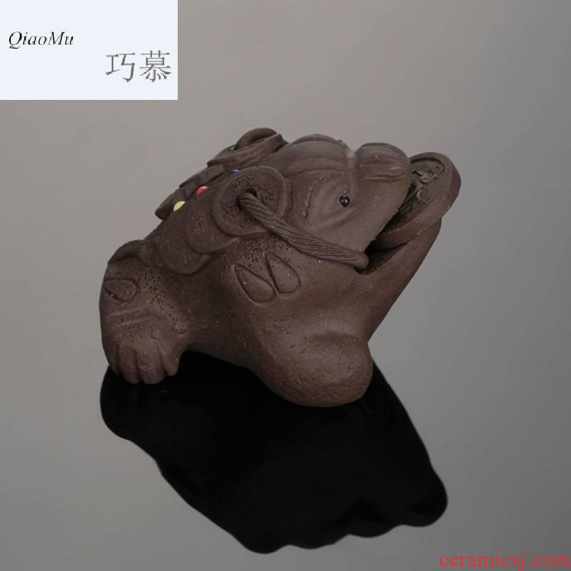 Qiao mu SU tea kungfu tea accessories your up porcelain can open tea pet furnishing articles creative play