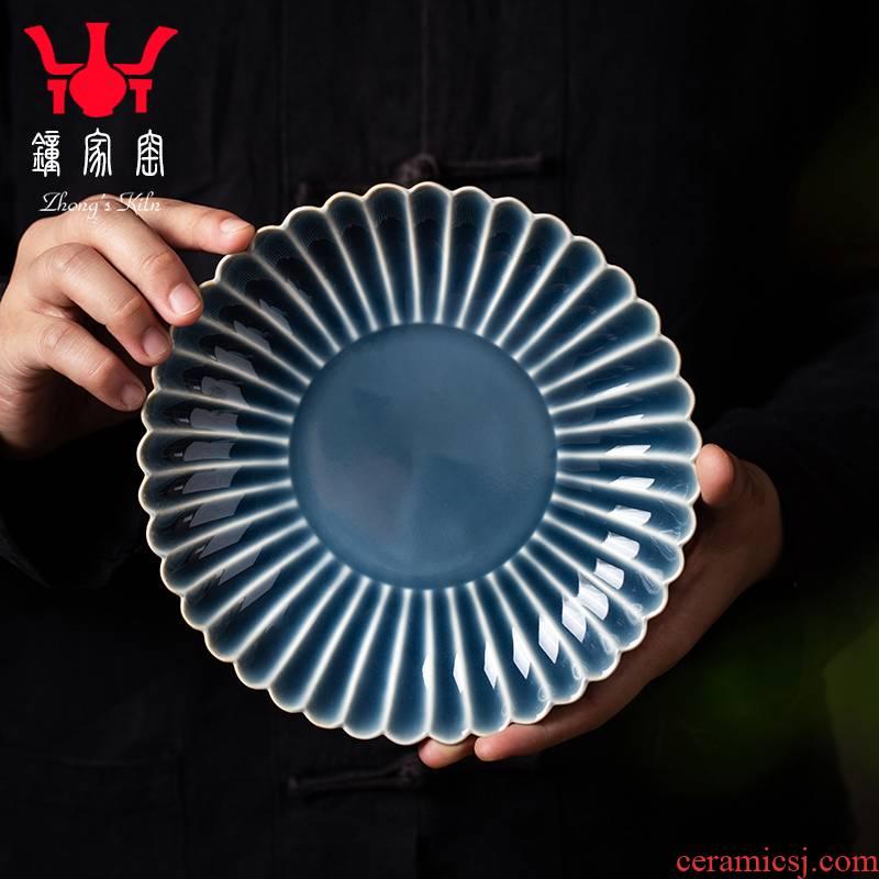 Clock home up pot bearing jingdezhen ceramics are it pot bearing dry fruit tray was kung fu tea tray tea tea table