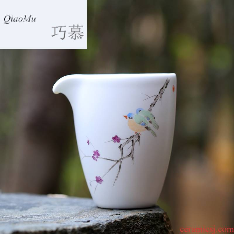 Qiao longed for a complete set of tea set hand tureen jingdezhen ceramic household 6 people contracted kung fu tea service master