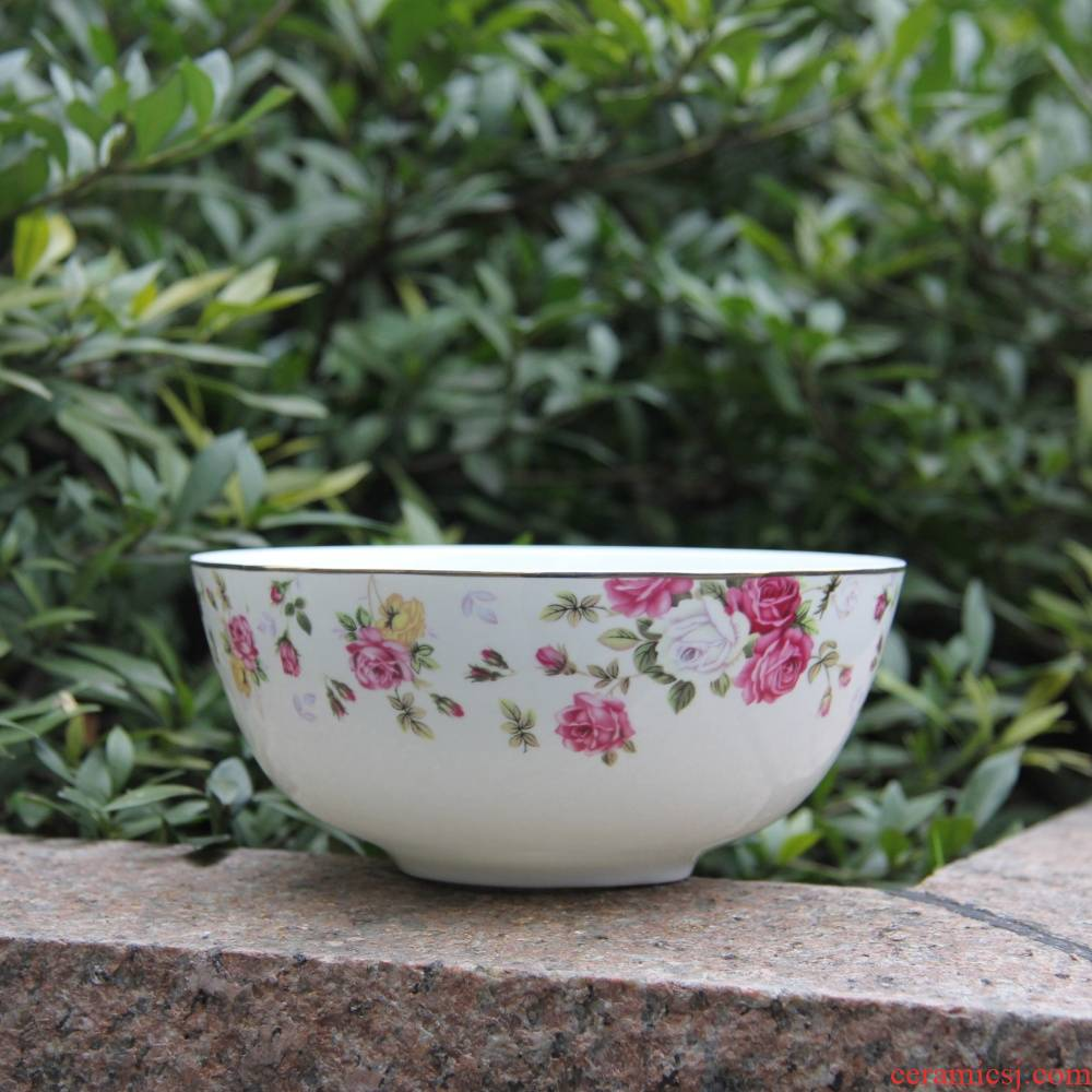 Qiao mu tangshan ipads porcelain two - tonne 6 inch up phnom penh rainbow such as bowl wonton to use ipads porcelain tableware Chesapeake bay bowl of soup bowl dish bowl