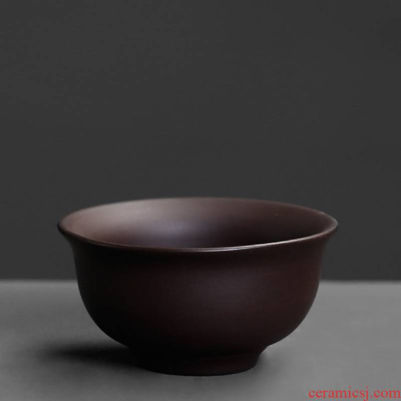 Purple sand cup small single master cup single CPU household ceramics kung fu tea tea drinking only a cup of tea light cup