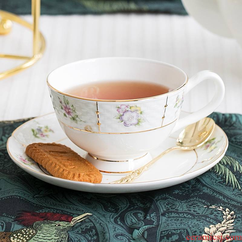 Qiao ceramic coffee set suit for some English afternoon tea coffee cup small European - style key-2 luxury household ceramics