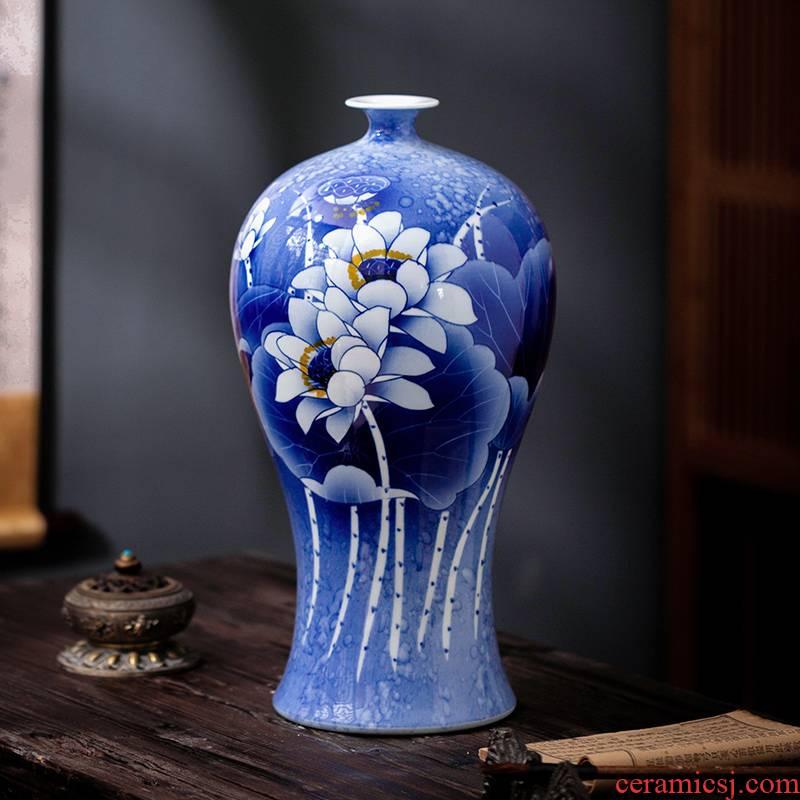 Jingdezhen ceramic jasper scent vase decoration rich ancient frame TV ark, furnishing articles sitting room porch flower arrangement craft