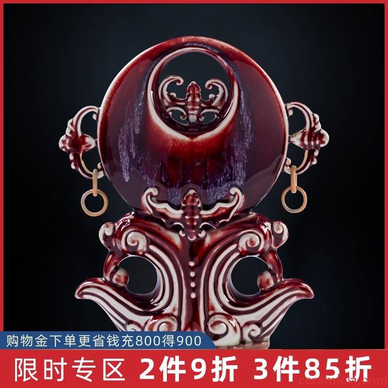Jun porcelain furnishing articles up jingdezhen ceramics handicraft Chinese style restoring ancient ways home sitting room ark adornment ornament