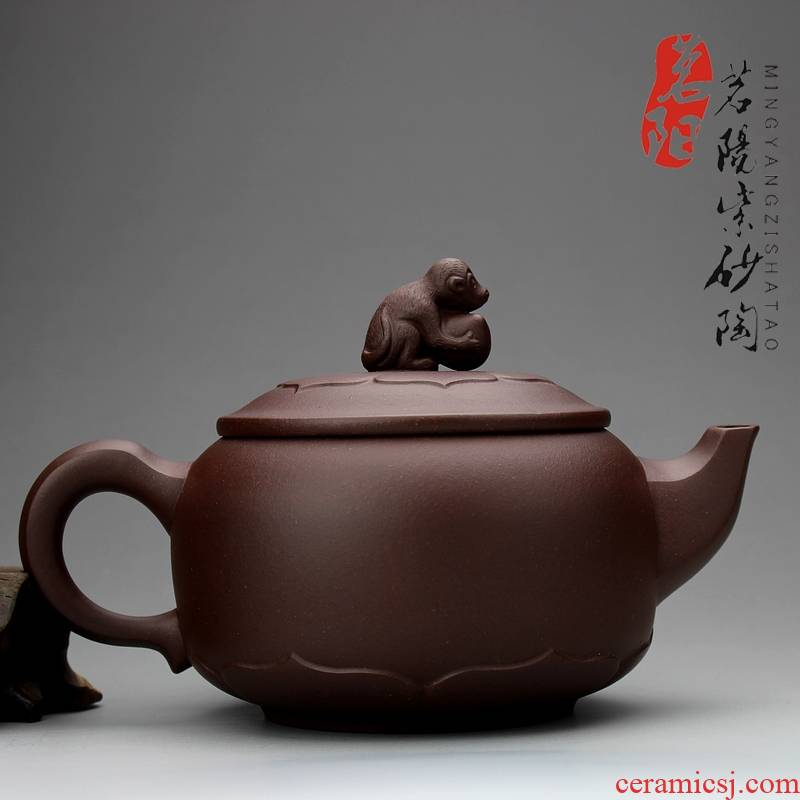 Qiao mu MY yixing undressed ore it real product manual craft masters boutique kung fu tea teapot monkey 's birthday present