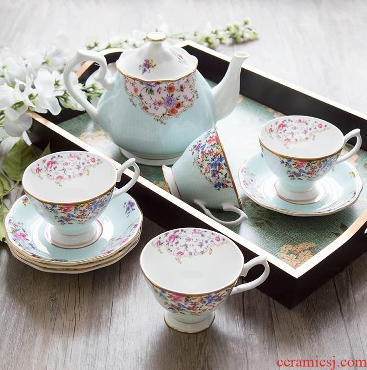 Qiao longed for some English afternoon tea ipads China coffee cups and saucers European ceramic coffee set tea service of tea cup set