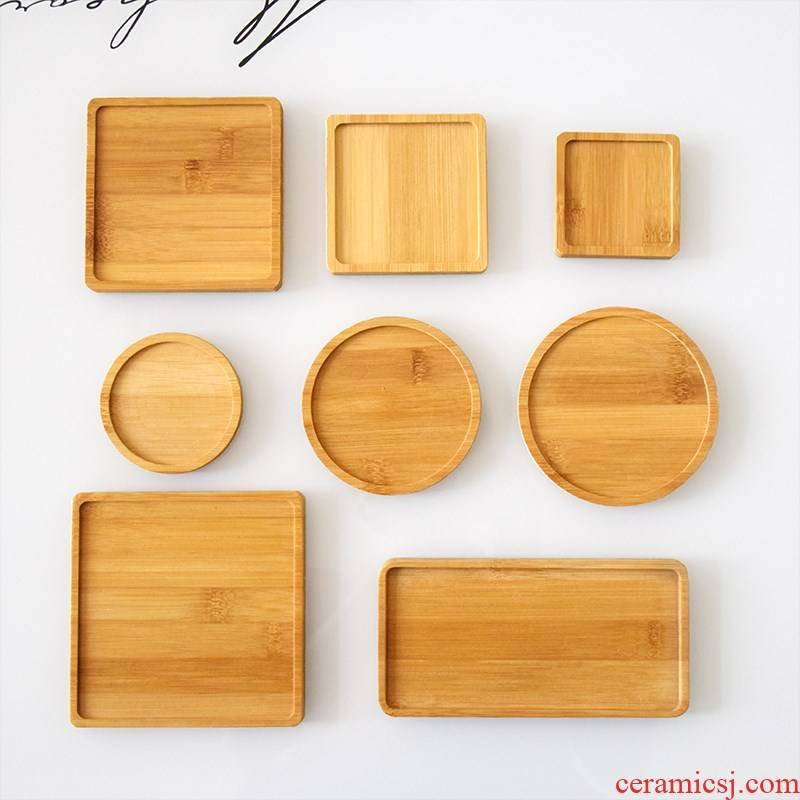 Fleshy receptacle planter base tray bamboo material circular square glass bottle tap sink GGHH
