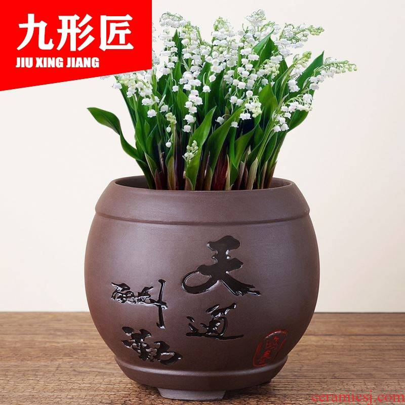 The orchid flower POTS large classical straight orchid special ceramic flower pot Chinese wind indoor special offer a clearance