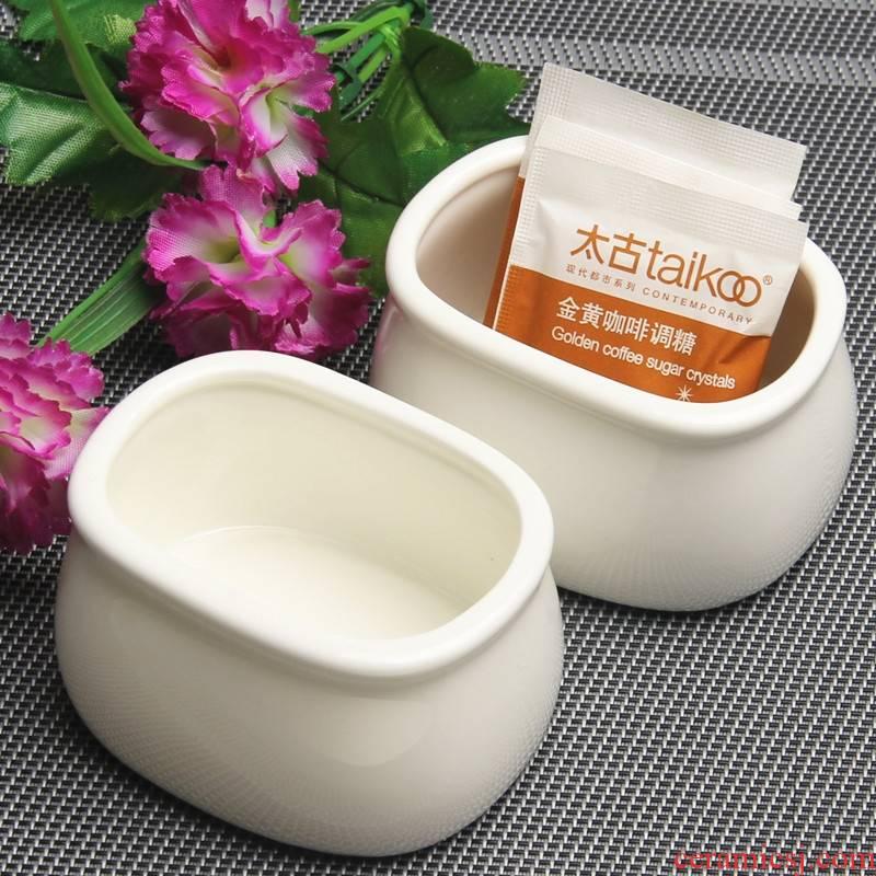 Qiao mu special - shaped ipads porcelain, ceramic egg cup coffee mate of sugar sugar sugar bowls placed porcelain jar simple fashion