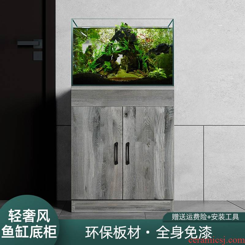 Light much wind household aquarium tank base bottom ark, partition of real wood frame bearing simplicity can be customized