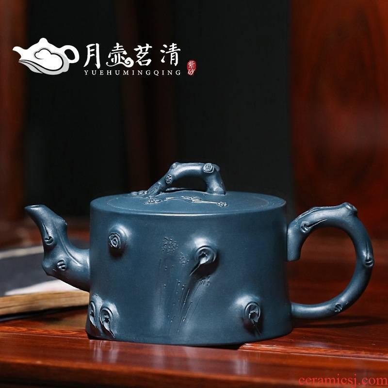 Qiao mu YH yixing it suit of chlorite by pure manual name plum name plum running the pot teapot