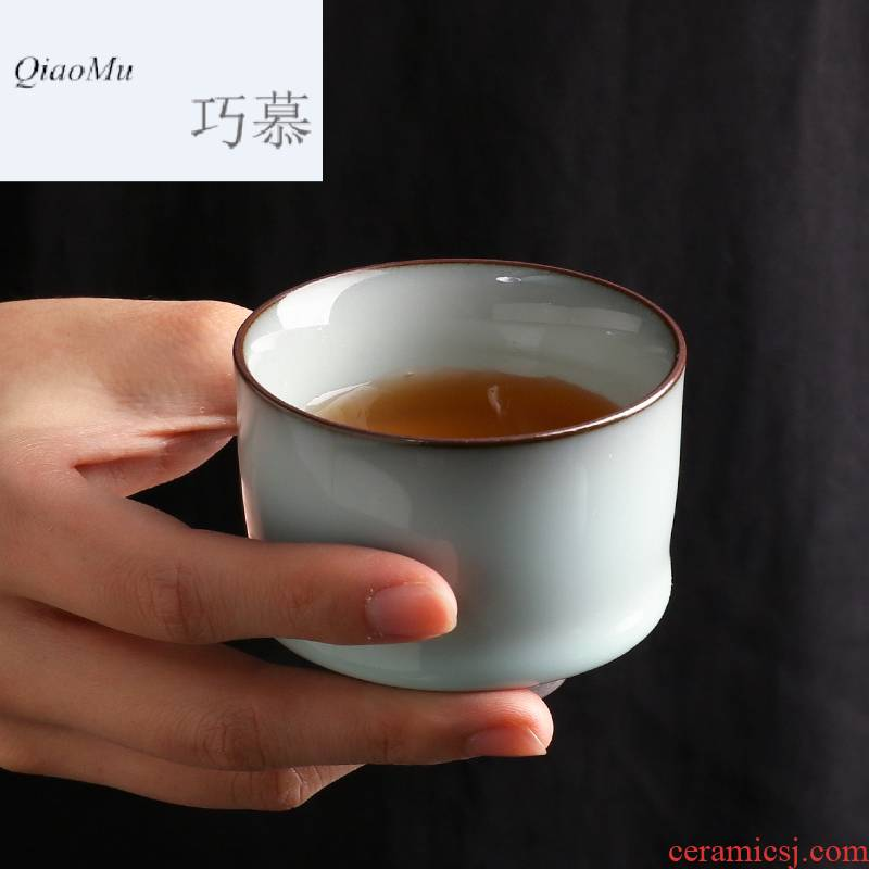Qiao mu sample tea cup of jingdezhen ceramic cups kung fu tea set up glaze individual single cup pressure S44054 feel
