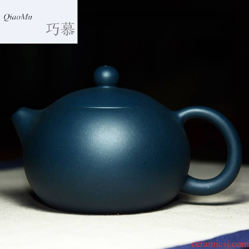 Qiao mu QD yixing it the teapot to play the ball hole of the republic of China green apple in pot famous Xiong Hai only tea by hand