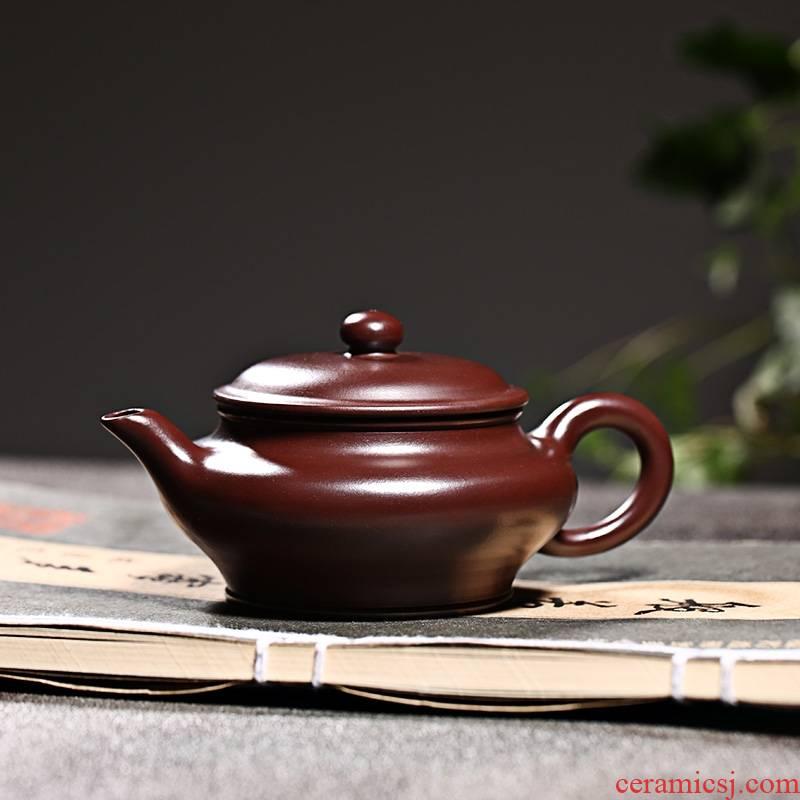 Qiao mu YM yixing ores are it by the pure manual kung fu teapot tea black mud zhu bian