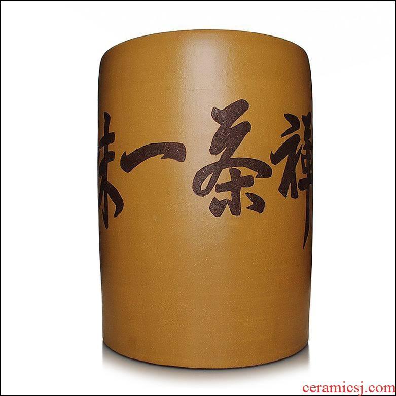 Qiao mu heavy JS puer tea cylinder purple sand tea set purple sand tea pot pu 'er tea urn tea cake tin