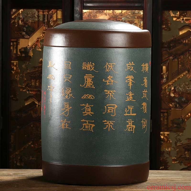 Qiao mu JS yixing purple sand tea pot big yards tea bucket seal pot puer tea cylinder ore deposit POTS