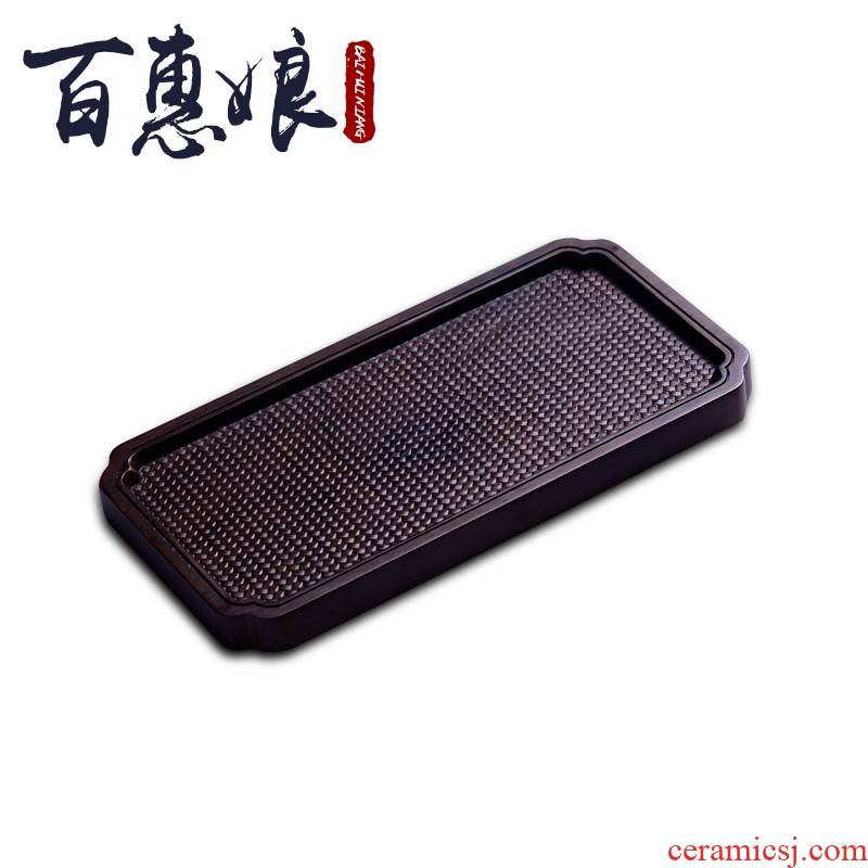 (niang real wood pot bearing pot dry terms tray of it pot mat mini small round black rosewood tea tea