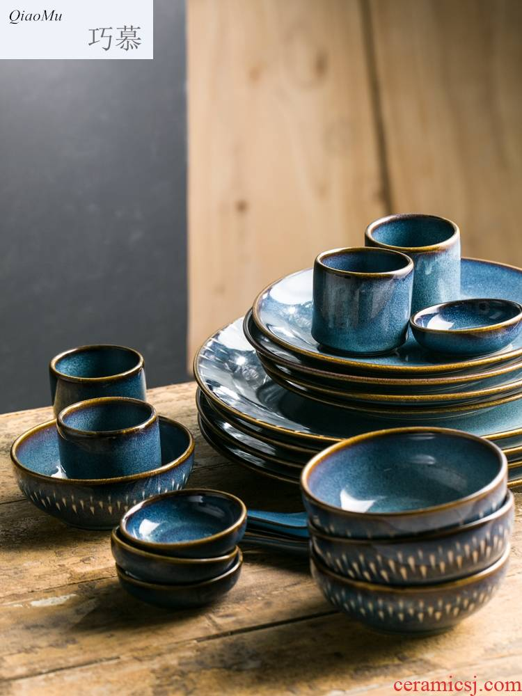 Qiao mu creative ceramic tableware suit and the head of household food dishes for four rice bowl soup plate plate plate western food