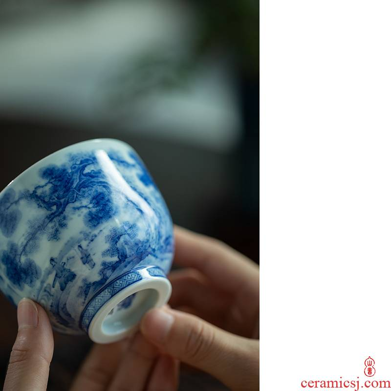 Jingdezhen Lin Yin cup series high temperature ceramic teacups hand - made porcelain masters cup personal special sample tea cup