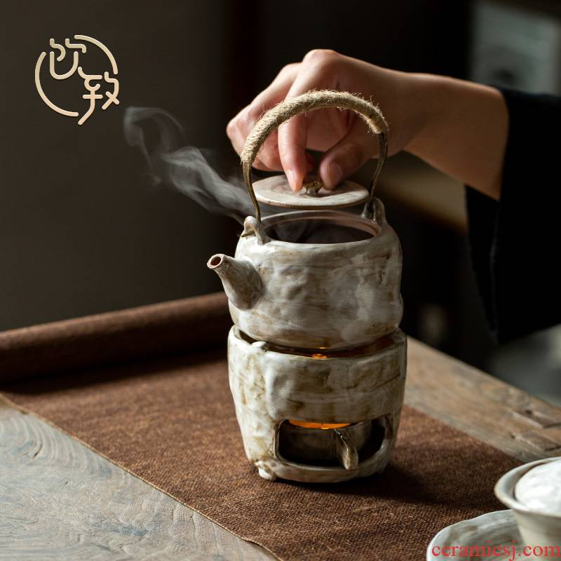 Ultimately responds to antique girder pot set of household kung fu tea tea stove temperature ceramic teapot hand made tea kettle
