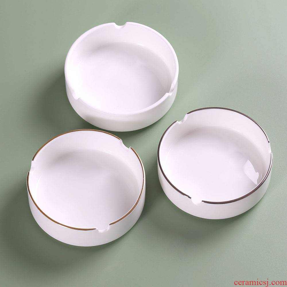 Ceramic ashtray creative move trend of Chinese public ashtray home sitting room contracted the custom office