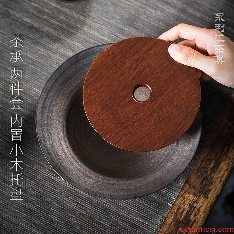 Japanese tea pot of bearing bearing restoring ancient ways is coarse ceramic dry terms Taiwan tea tray mat tea tray points compote kung fu tea tea tray