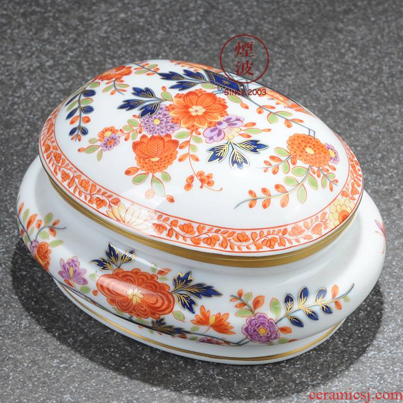 German mason MEISSEN porcelain new clipping 1991 Ivan wind over porcelain box cover pay coloured drawing or pattern