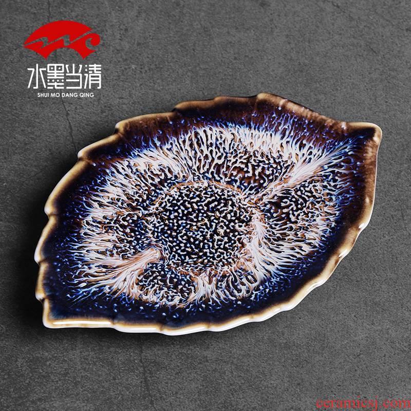 Build light saucer ceramic heat insulation cup mat mat household cup holder, kung fu tea tea tea accessories creative mat