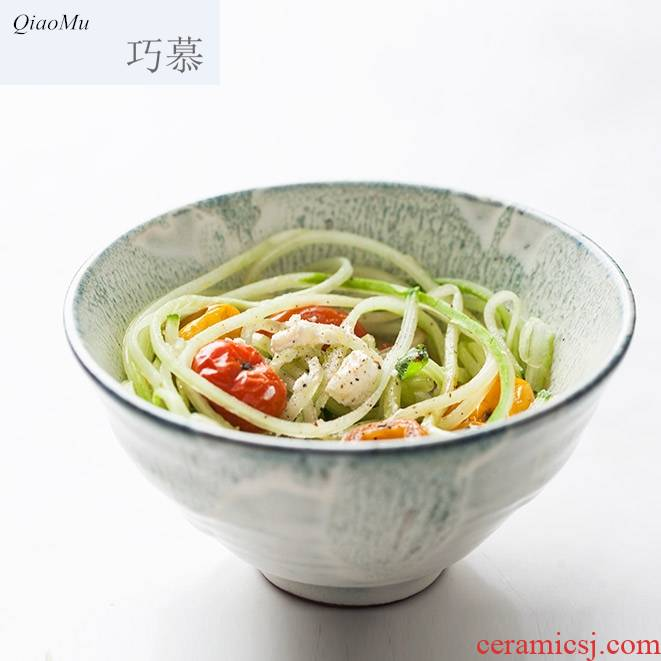 Qiao MuRi Korean creative fashion ceramic bowl of soup bowl rainbow such as bowl to eat rice bowl five inches household small bowl of rice bowls