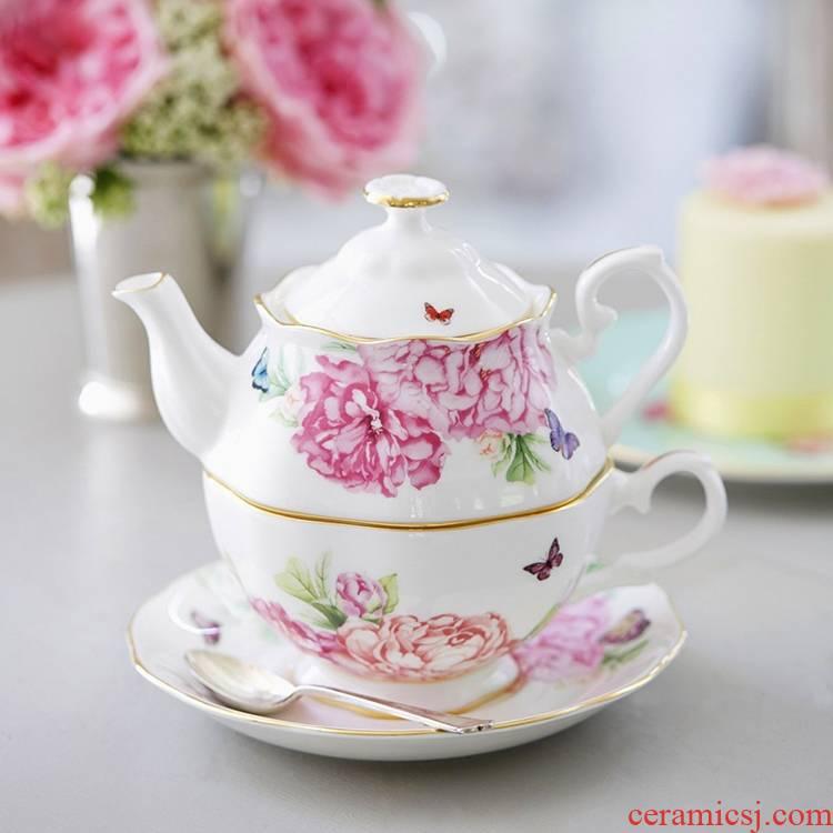 Ceramic teapot lash qiao mu English afternoon tea pot a pot of a Ceramic flower pot set Europe type