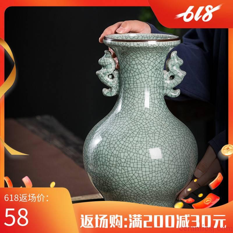 Jingdezhen ceramic vase furnishing articles sitting room archaize up porcelain Chinese style household adornment porcelain bottle arranging flowers