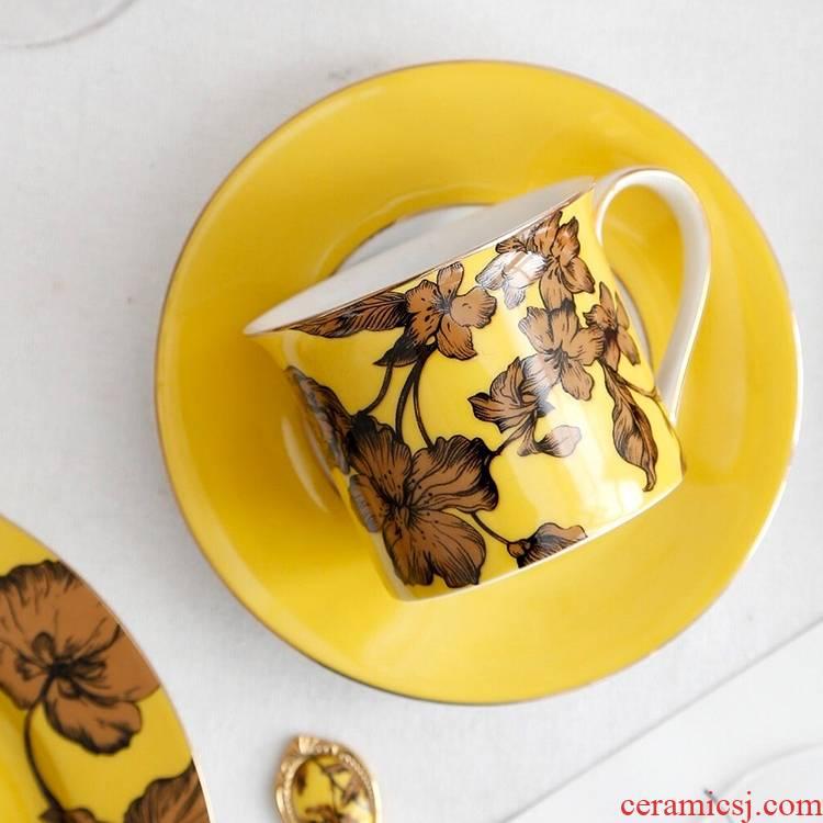 Qiao mu English afternoon tea snack plate ceramic tea cup coffee cup plate suit European plates
