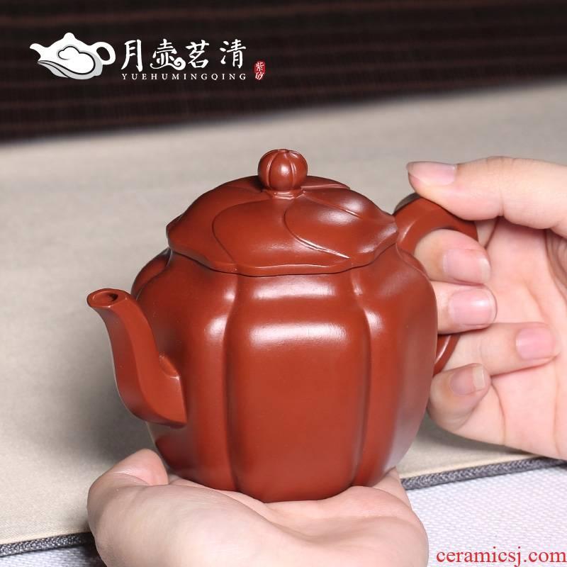 Qiao mu YH yixing undressed ore dahongpao it pure checking clay teapots jin zhu wen pot of tea set