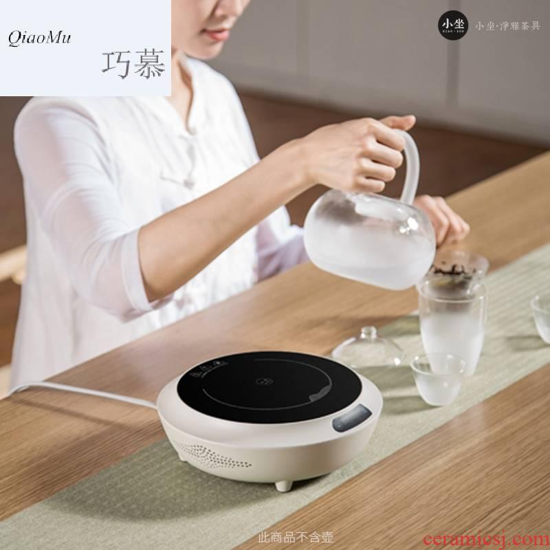 Qiao mu CMJ electric TaoLu boiled tea, soda glazed pottery pot of white mud'm ceramic tea stove suits for health tea kettle