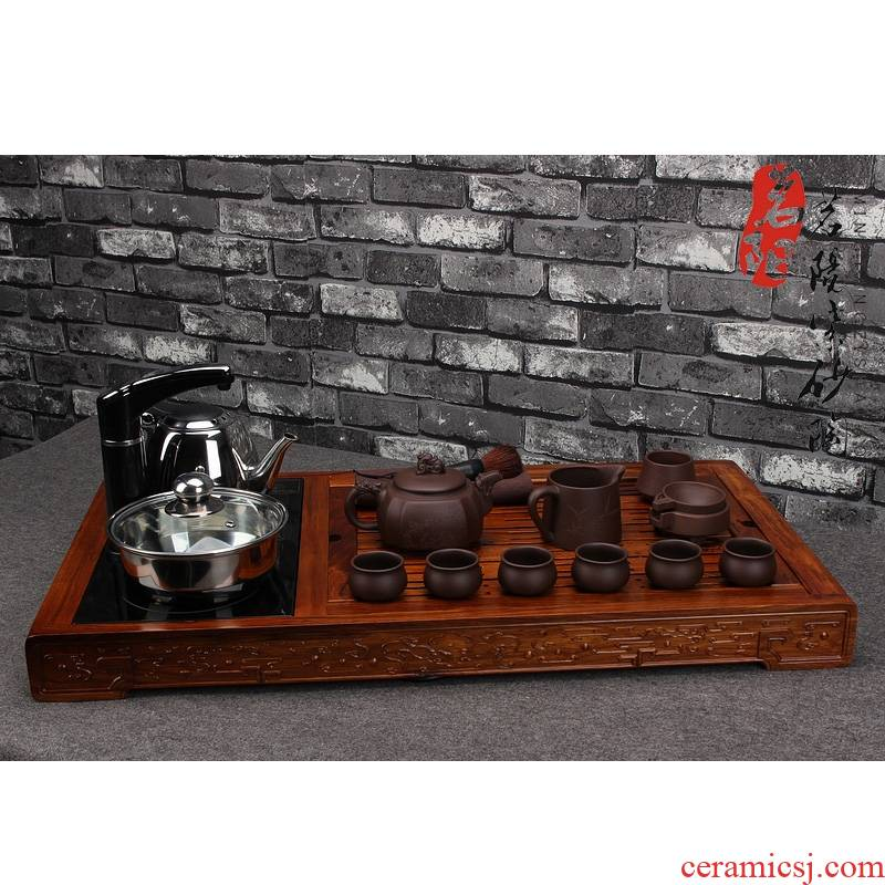 Qiao mu MY it kung fu suit solid wood tea tray tea accessories home office of a complete set of automatic combination