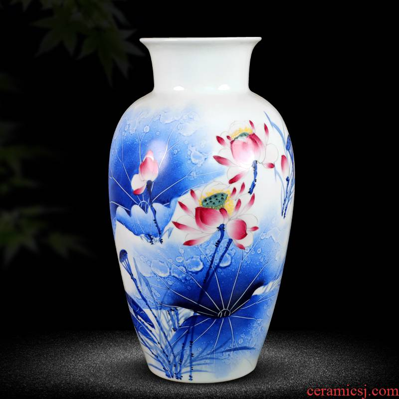 Hand - made jingdezhen ceramics vase furnishing articles sitting room flower arrangement of Chinese style household decorate at the French arts and crafts